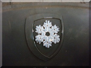 Snow flake on tire