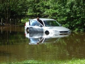 Flooded car 1