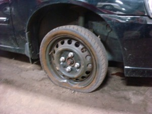 surprise     flat tire   find   spare tire  flat  joe boulay