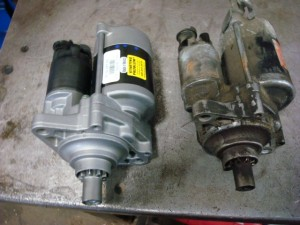 New starter on left, new starter on right.