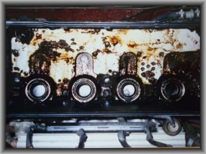 Dirty valve cover