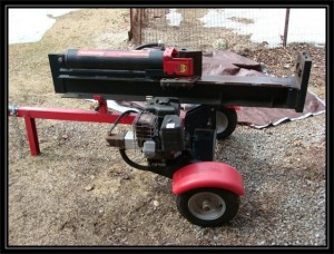 This log splitter has been notorious for hard starting. One dose of Star Tron took care of that!