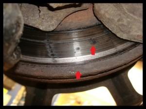 Bad brake rotor.