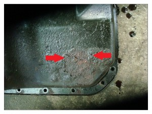 Rusted & leaking oil pan