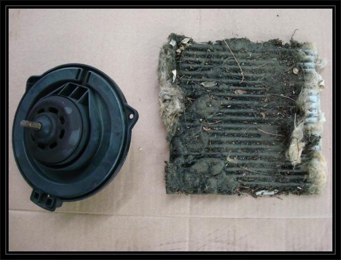 Cabin filter& blower motor