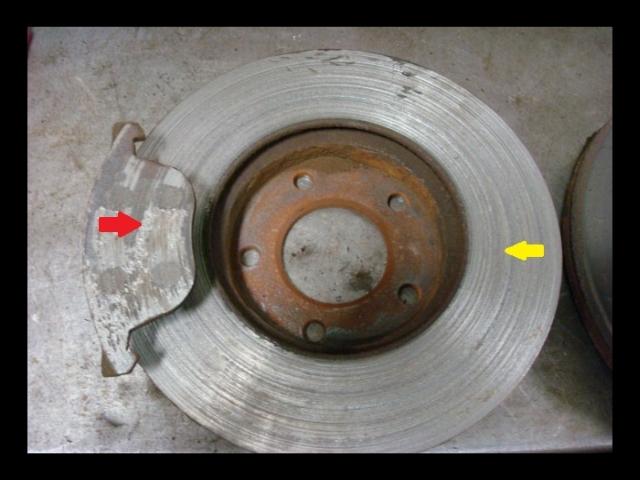 Metal on metal brake pad